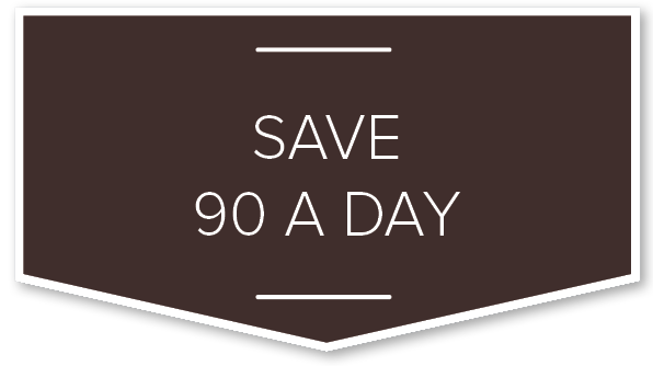 Save 90 A Day Callout